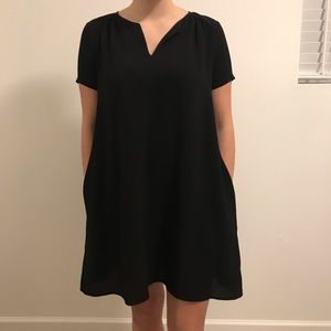 Black lush dress. Chiffon